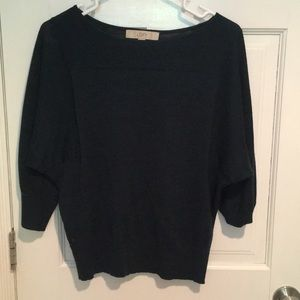 Green and black sweater from LOFT